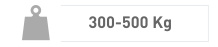 Intre 300 si 500 Kg