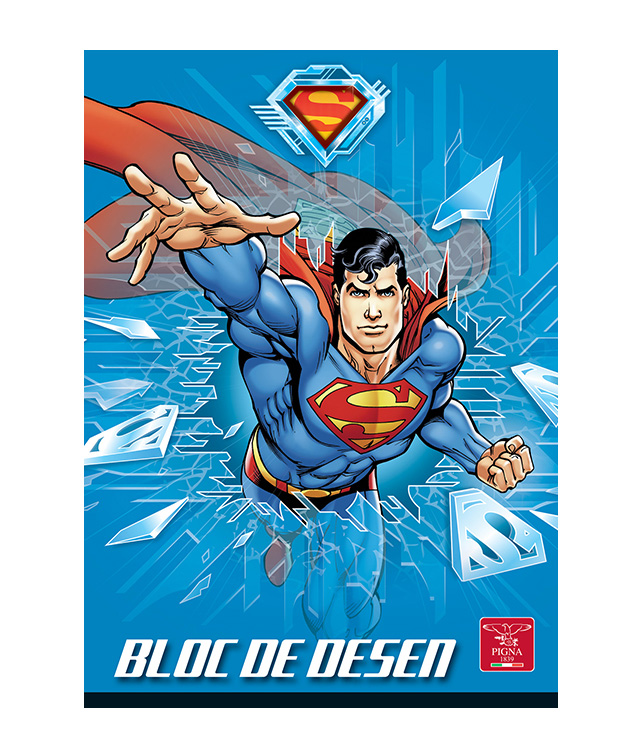 Bloc de desen A4 160 g/mp 16 file SUPERMAN