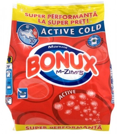 Detergent manual BONUX 2in1 Active 400g