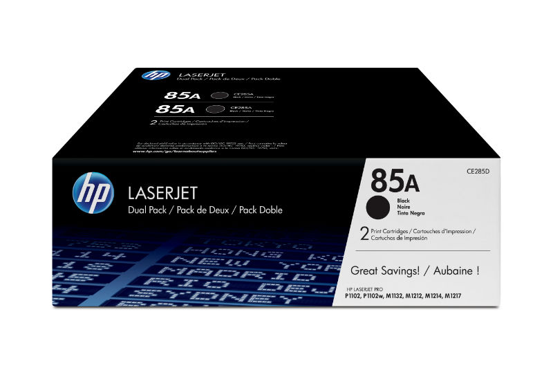 Toner black 85A 2 tonere/set HP CE285AD