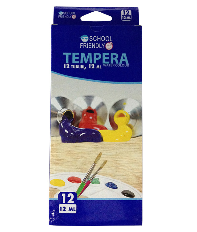 Tempera 12 Culori/set 12ml Pigna School Friendly