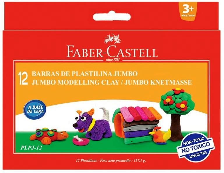 Plastilina 12 culori/set 160g FABER CASTELL