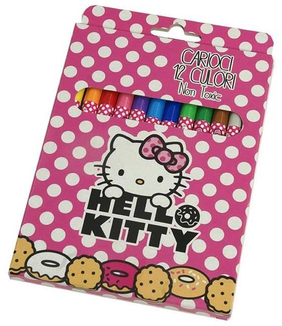 Carioci 12 culori/set HELLO KITTY
