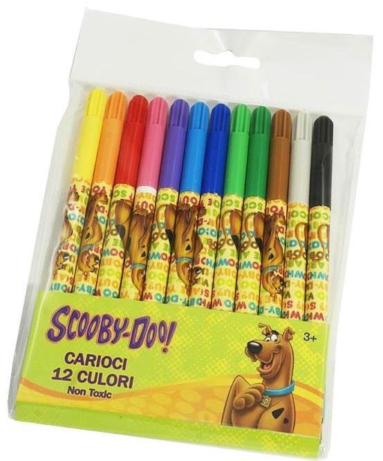 Carioci 12 culori/set SCOOBY DOO