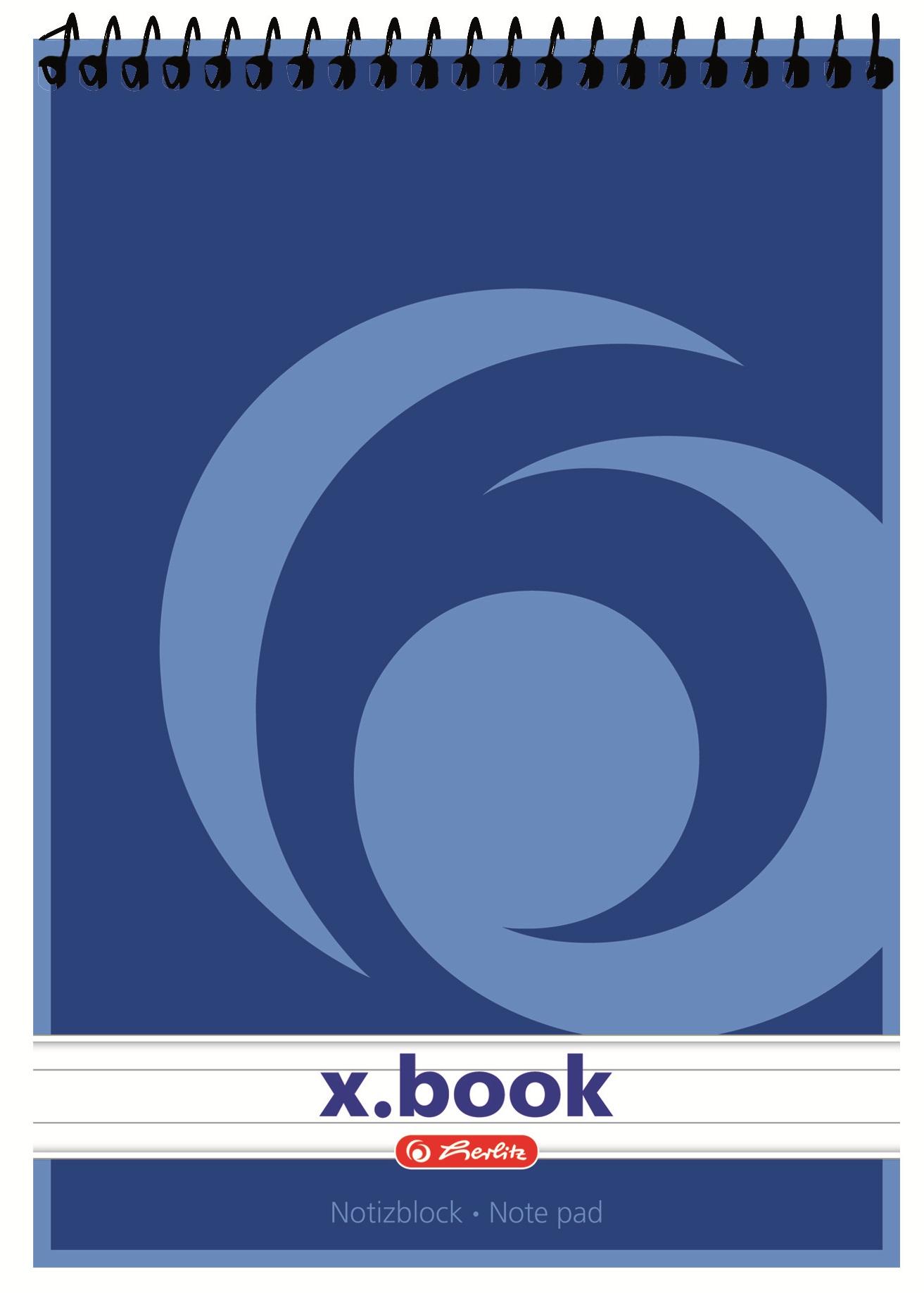 Bloc notes A5 dictando cu spira 50 file HERLITZ X.Book