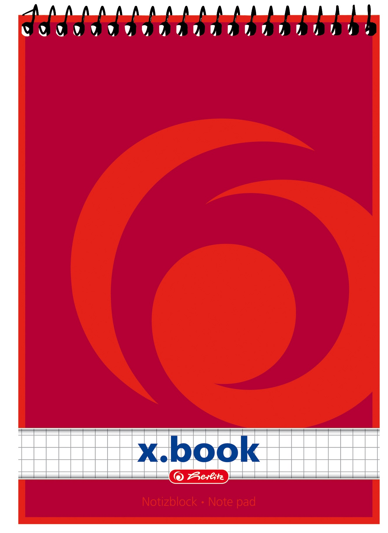 Bloc notes A5 matematica cu spira 50 file HERLITZ X.Book