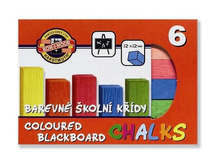 Creta colorata scolara pentru tabla 6 culori KOH-I-NOOR