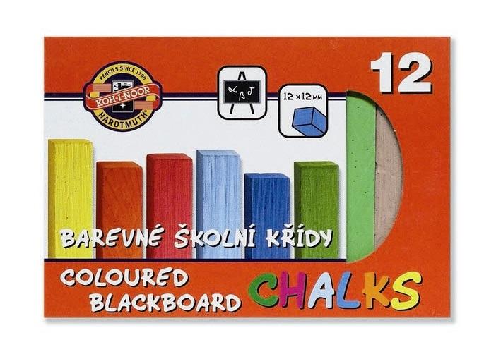 Creta colorata scolara pentru tabla 12 culori KOH-I-NOOR