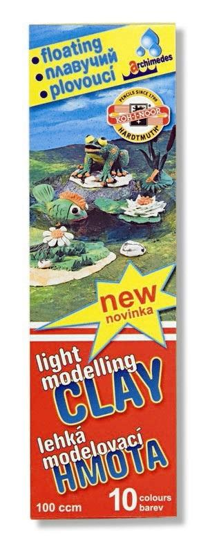 Plastilina 10 culori/set plutitoare KOH-I-NOOR Archimede