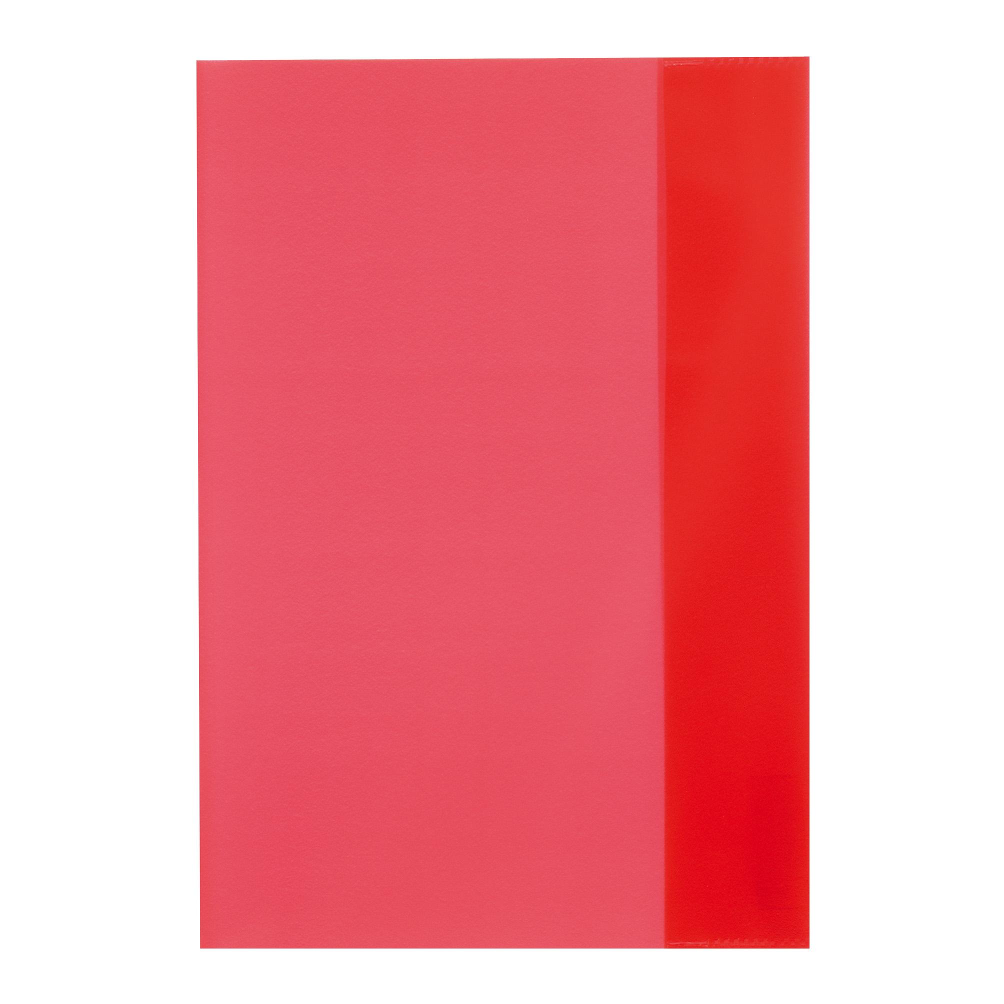 Coperta A5 PP rosu transparent 25 buc/set HERLITZ
