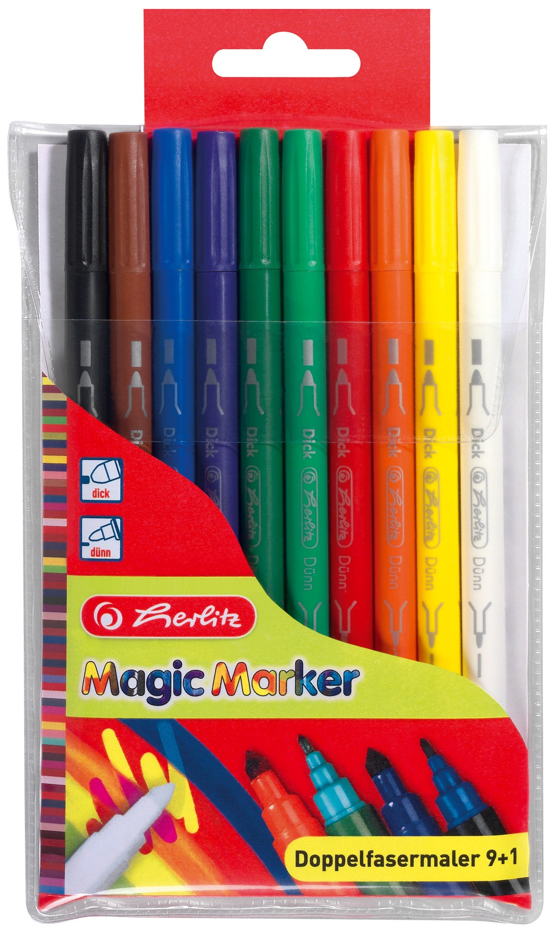 Carioca dubla 10 buc/set HERLITZ Magic
