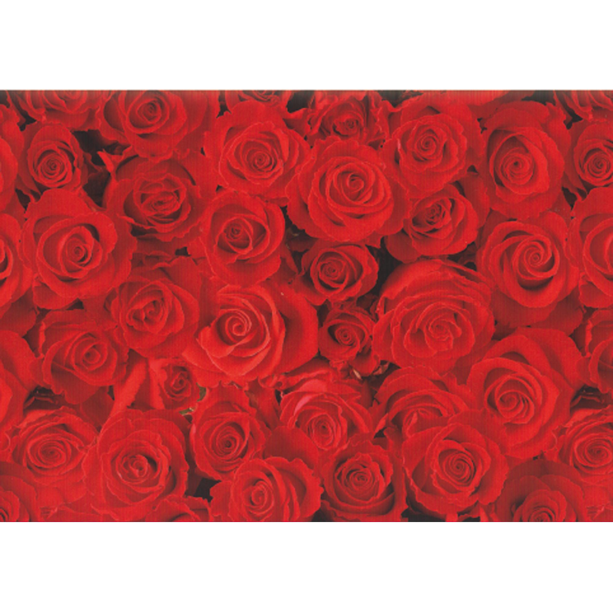 Hartie pt. ambalare 70 x 200cm/rola 70gr/mp model cu trandafiri rosii HERLITZ
