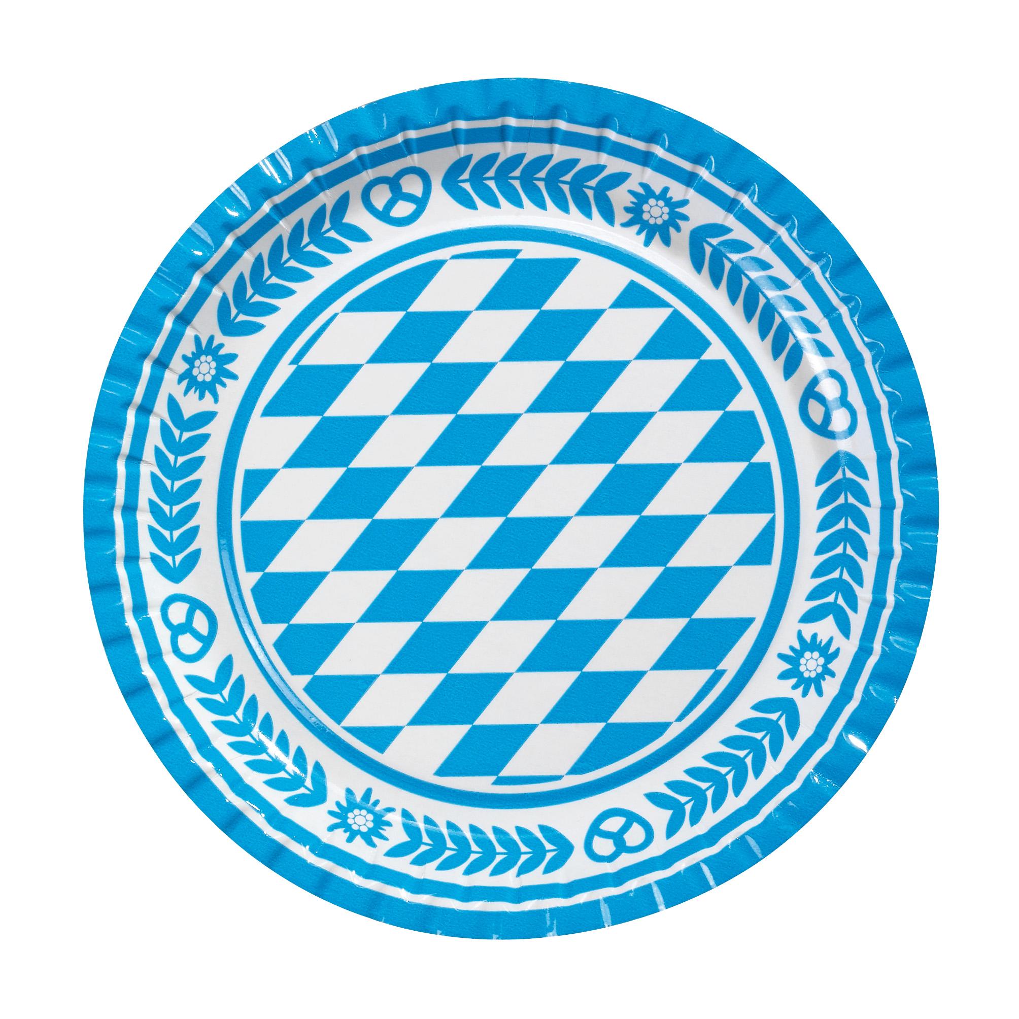 Farfurie din carton color diam. 23cm 10 buc/set HERLITZ Bavaria