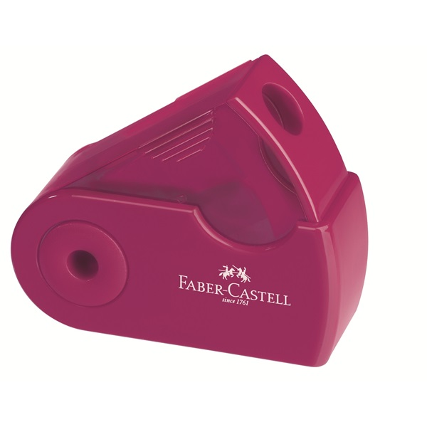 Ascutitoare simpla rosu/albastru FABER CASTELL Sleeve mini