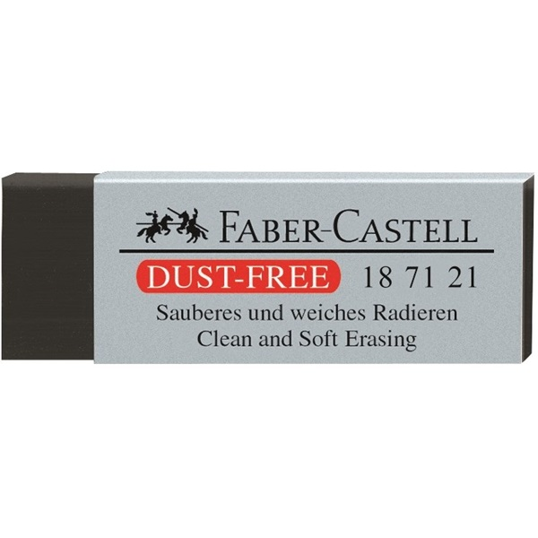 Radiera neagra FABER CASTELL Dust Free