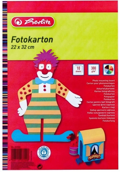 Carton colorat 22 x 32cm 300 g/mp 10 coli/set HERLITZ