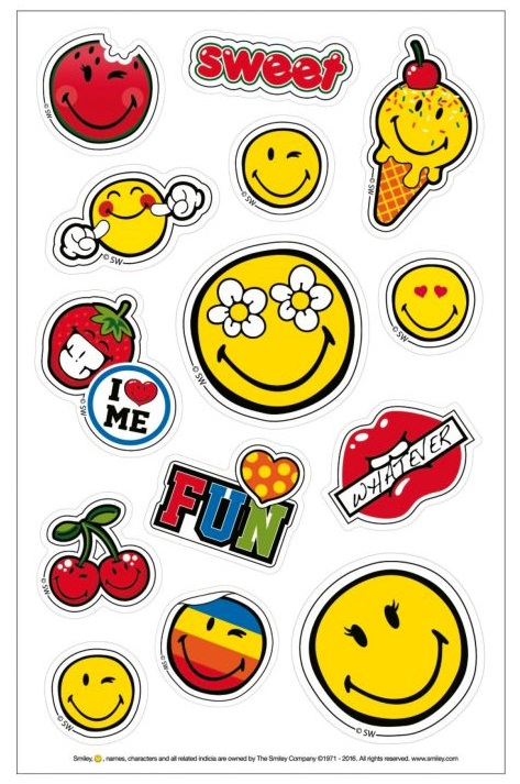 Stickere 3 coli/set HERLITZ Smiley World Girly