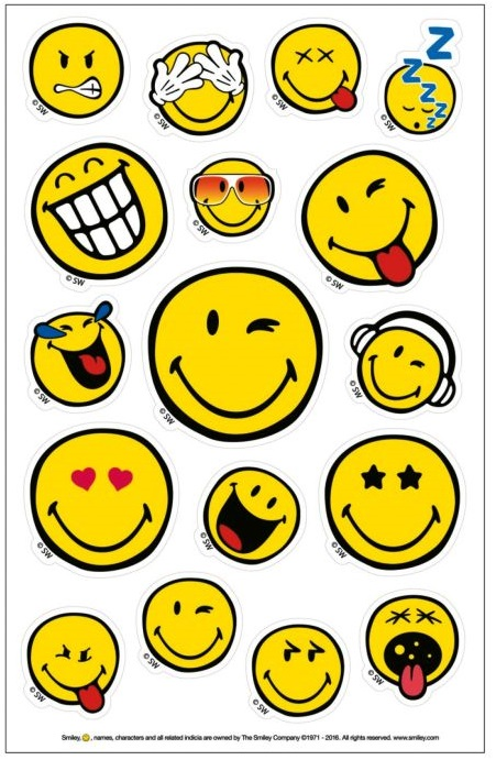 Stickere 3 coli/set HERLITZ Smiley World