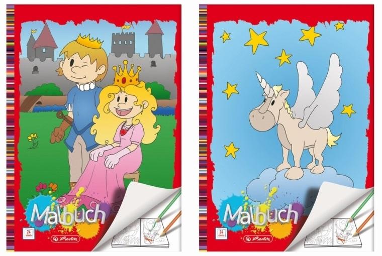 Carte de colorat A4 24 file div. modele HERLITZ