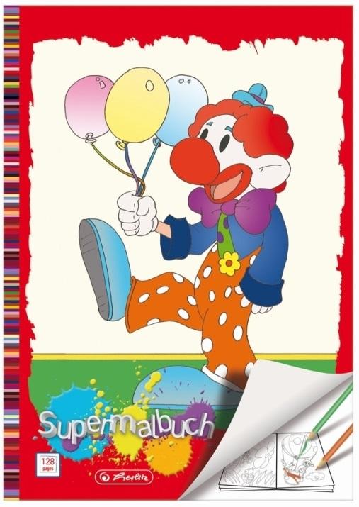 Carti de colorat A4 128 file diverse modele HERLITZ