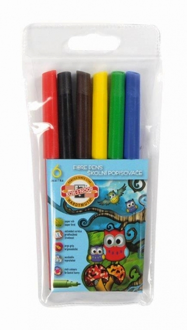 Carioci 6 culori/set KOH-I-NOOR Owls