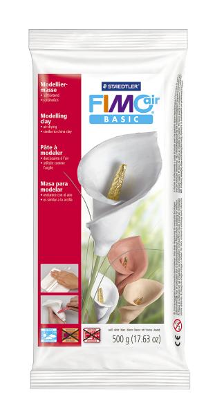 Plastilina pt. modelaj 500gr alb (white) STAEDTLER Fimo Air Basic