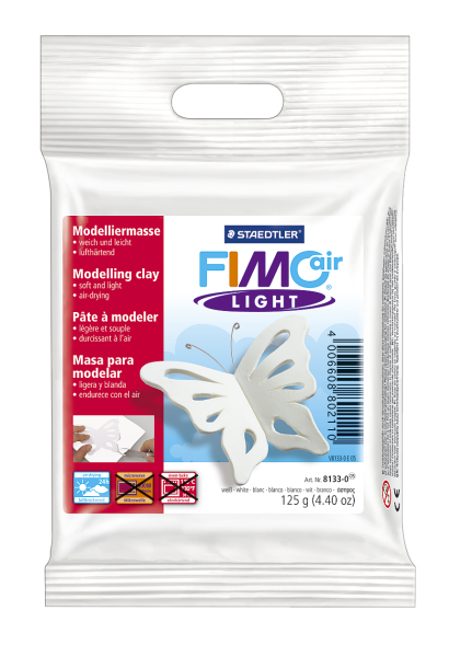 Plastilina pt. modelaj 125gr alb (white) STAEDTLER Fimo Air Light