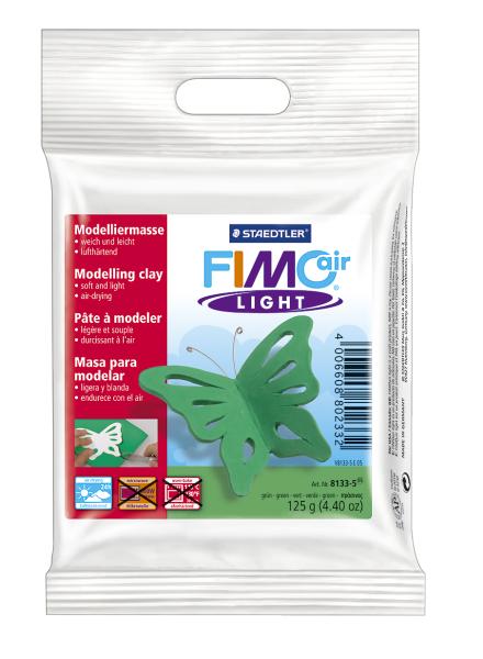 Plastilina pt. modelaj 125gr verde (green) STAEDTLER Fimo Air Light