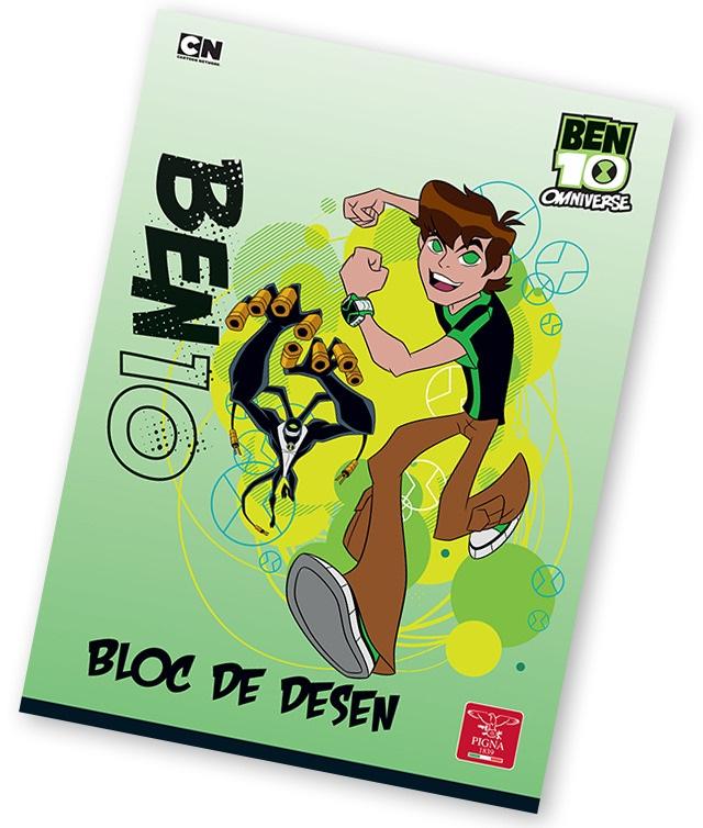 Bloc de desen A4 160 g/mp 16 file PIGNA Premium BEN10