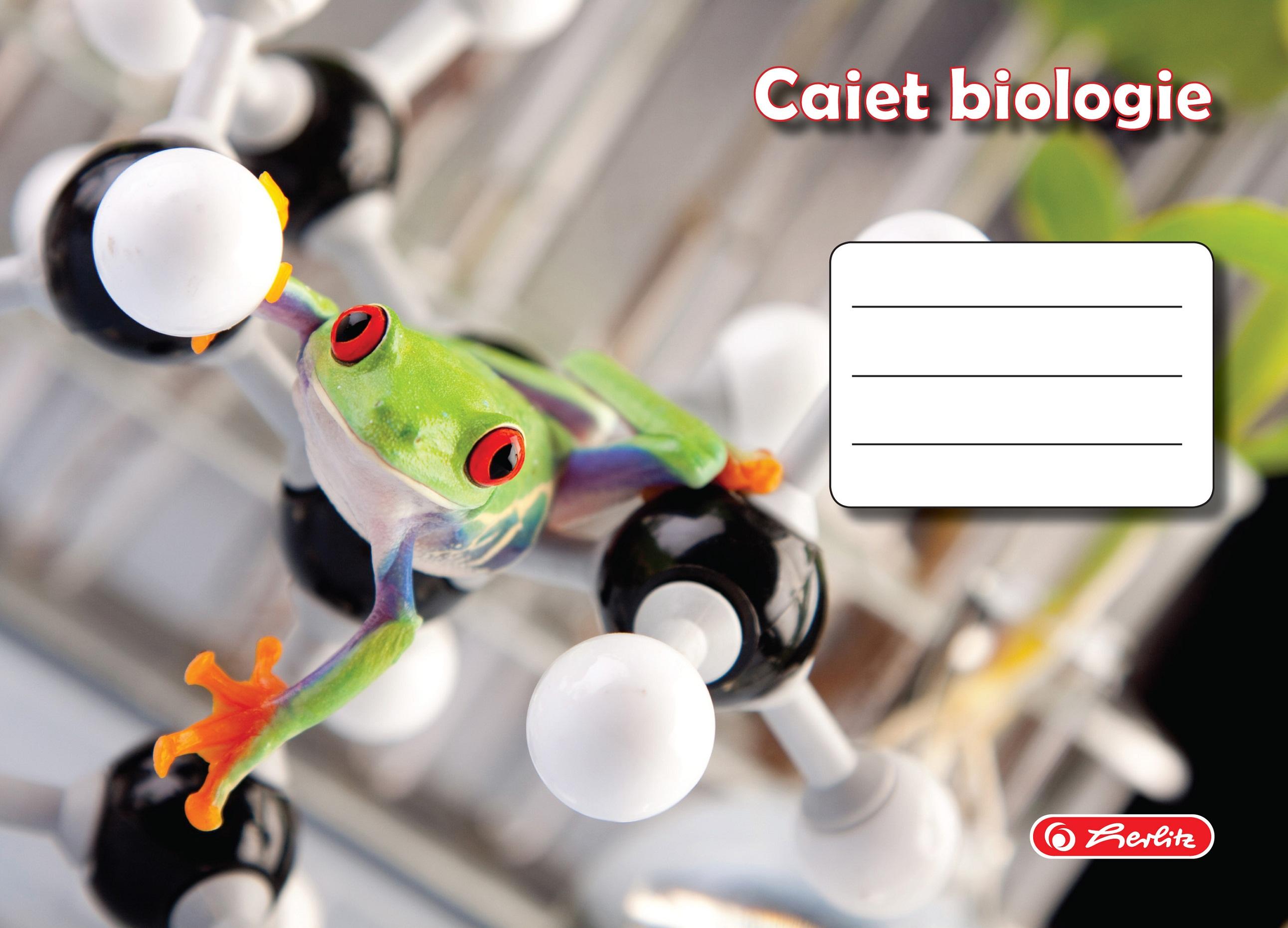 Caiet pentru biologie 17 x 24cm 24 file HERLITZ ROCK YOUR SCHOOL