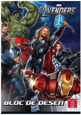 Bloc de desen A4 160 g/mp 16 file PIGNA Premium Avengers