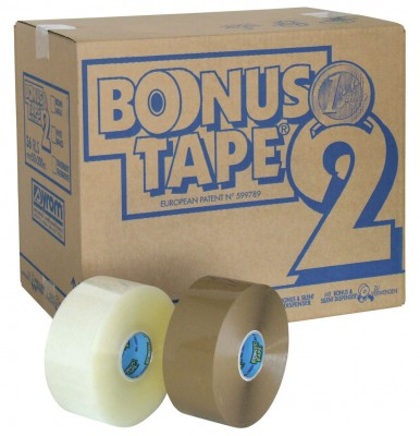 Banda Adeziva  50mm X 200m  Transparent  Syrom Bonus Tape 2