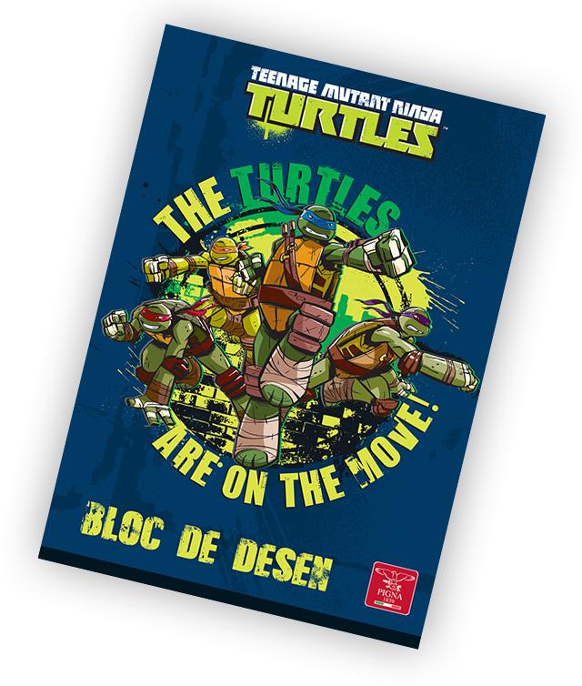 Bloc de desen A4 160 g/mp 16 file PIGNA Premium Ninja Turtles