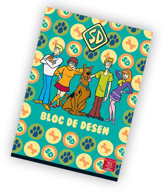 Bloc de desen A4 160 g/mp 16 file PIGNA Premium Scooby Doo