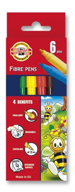 Carioci 6 culori/set KOH-I-NOOR Bees