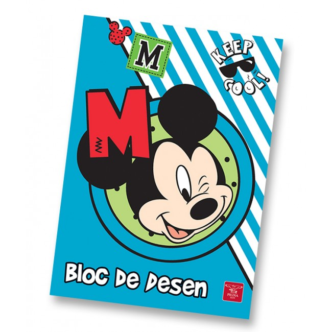 Bloc de desen A4 160 g/mp 16 file MICKEY MOUSE