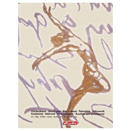 Bloc desen A4 15 file 90-100g/mp coperta bicolor HERLITZ