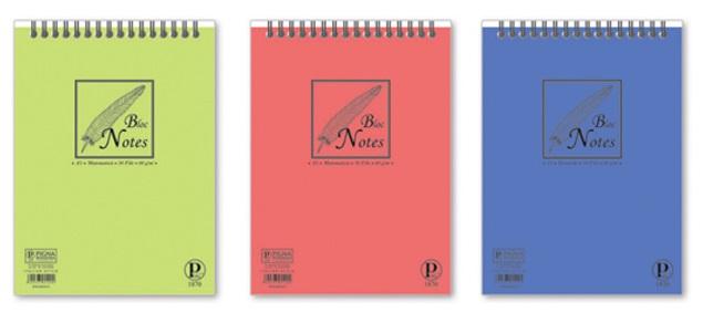 Bloc notes 8 x 12cm 50 file velin PIGNA Basic