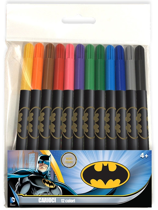 Carioci 12 culori/set BATMAN