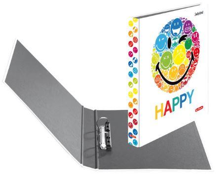 Caiet mecanic A4 2 inele 25mm HERLITZ Smiley World Rainbow