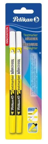 Carioca corectoare varf M 2 buc/ blister PELIKAN Highlighter+textmarker loscher