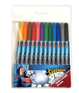 Carioci 12 culori/set SUPERMAN