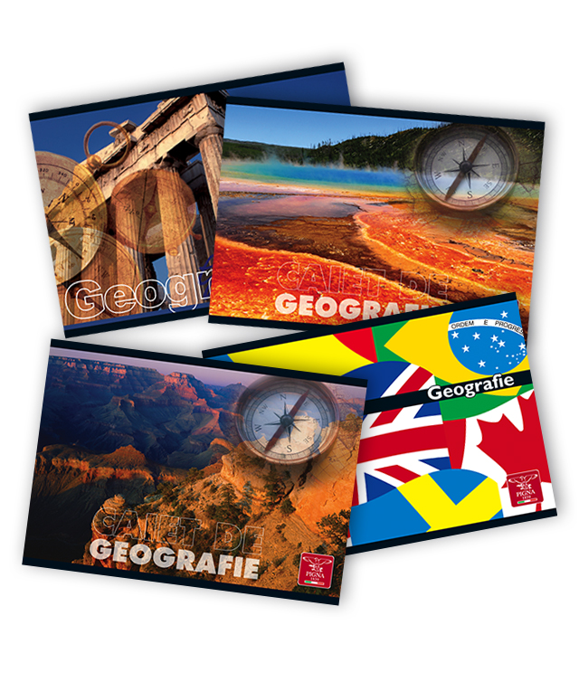 Caiet pentru geografie 17 x 24cm 24 file PIGNA Clasic