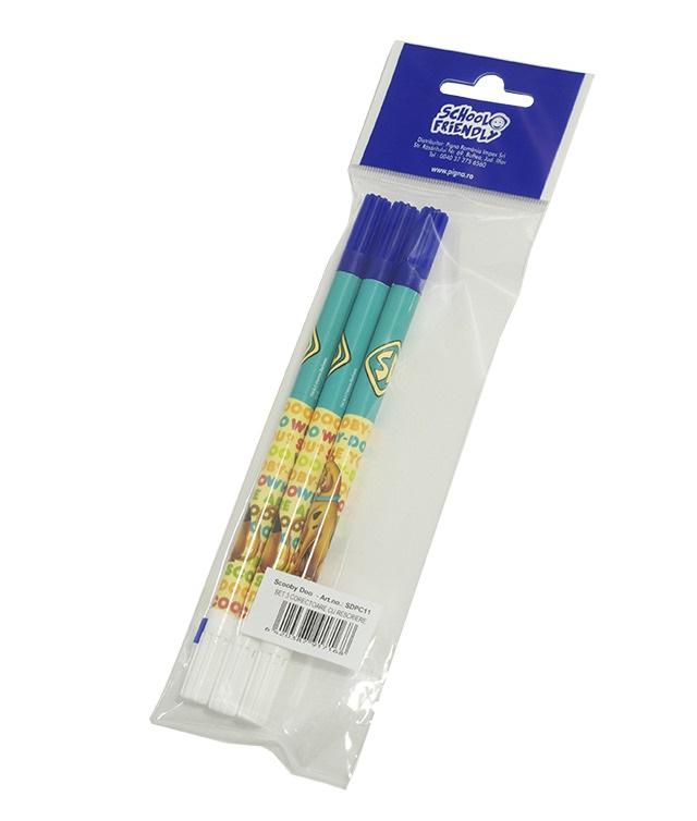 Creion corector 3 buc./set SCOOBY DOO