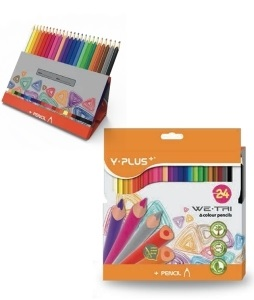 Creioane colorate cutie tip suport 24 culori/set PIGNA Y-Plus+