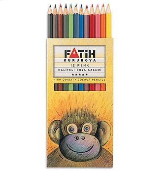 Creioane colorate 1/1 12 culori/set FATIH