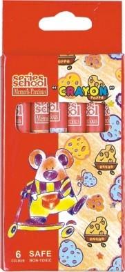 Creioane colorate cerate 12 culori/set MEMORIS-PRECIOUS