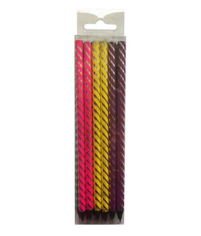 Creioane cu mina grafit fluorescente 1/1 12 culori/set PIGNA School Friendly