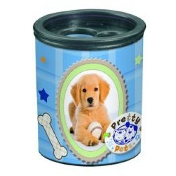 Ascutitoare din plastic, butoias, dubla, HERLITZ Pretty Pets caine