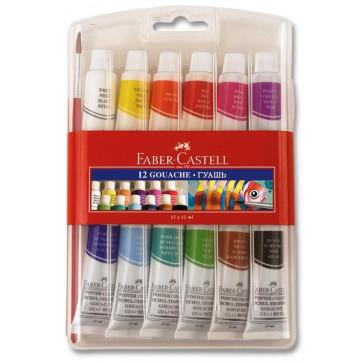 Tempera 12 culori/set, 12ml, FABER CASTELL